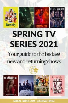 Hey Serial Fans and welcome to the Spring TV Series 2021: Your Guide To The Badass New And Returning Shows. In this guide, we are recommending you the best TV series to watch and stream this Spring. And in the Spring TV series 2021 guide, we have selected only the best badass new and returning shows premiering or released in April 2021. We selected fantasy, comedy, drama. action, dramedy, and more series. #TVSeries #TVShows #BestTVShows #ShowsToWatch Comedy Tv Series, Comedy Tv Shows, Tv Series To Watch, Book Series, Jessalyn Gilsig, Laura Donnelly, Famous In Love, Unbreakable Kimmy Schmidt, Drama Tv