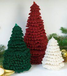 crochet table top christmas trees