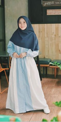 Modest Fashion Hijab, Casual Hijab Outfit, Hijab Chic, Abaya Fashion, Modest Outfits, Fashion Outfits, Muslim Women Fashion, Islamic Fashion, Hijabi Girl