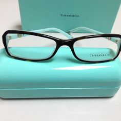 New for 2013 - Tiffany & Co. Eyeglasses and Sunglasses. This is TF 2061 color 8134 top Havana blue.