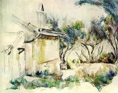 Paul+Cezanne+-+Le+Cabanon+de+Jourdan+(watercolor)+.JPG 637×500 pixels