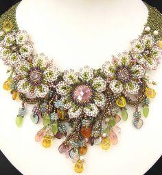 White Anemone necklace  by Cielo Design, via Flickr