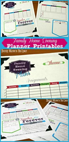 Family Home Evening Planner Printables! If you plan to have FHE you are more likely to do it.