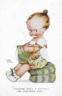 Mabel Lucie Attwell knitting illustration