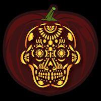 Sugar Skull CO - Stoneykins Pumpkin Carving Patterns and Stencils