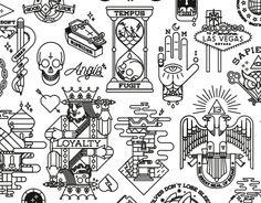 "Consulta este proyecto @Behance: ""Tattoo Flash 1"" https://www.behance.net/gallery/23365719/Tattoo-Flash-1"