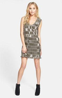 MINKPINK 'Disco Ball' Pleat Metallic Dress |  Nordstrom