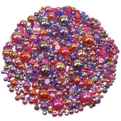 This embellishment pack contains a luscious mixture of rhinestones and pearls in tones of purple and red The sparkly gems range in size from to Nail Decorations, Ornament Wreath, Embellishments, Berries, Card Making, Packing, Gems, Range