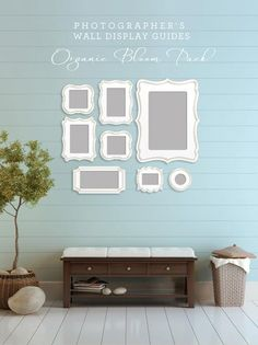 Organic bloom frames wall display - frames available through your professional photographer