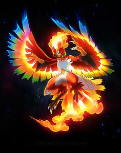 black_background blaziken blue_eyes cat-meff character_fusion character_name claws dark_background feathered_wings fire full_body glowing glowing_eyes ho-oh legendary_pokémon moltres no_people open_mouth png_conversion pokemon pokemon_species simple_background solo talonflame text wings