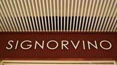Insegna per punto vendita Signorvino #insegne #led  Sign for shop Signorvino  #signs