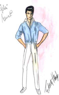 Illustration - Edith Head design for Elvis