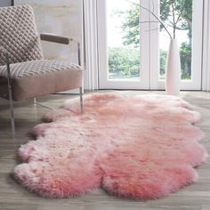 Online Shopping - Bedding, Furniture, Electronics, Jewelry, Clothing & more - Shop for Safavieh Prairie Natural Pelt Sheepskin Wool Solid Pink Shag Rug x Get free s - Pink Fur Rug, Pink Shag Rug, Home Design, Pink Sheep, Eclectic Rugs, Decor Inspiration, Bedroom Inspiration, Solid Rugs, Sheepskin Rug