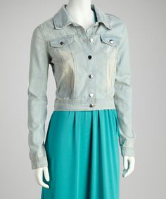 Take a look at this Light Wash Button-Up Denim Jacket by Therapy on #zulily today!