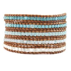 Lotus  mann  turcos pearl shell 5 5 wraps self-shade bracelet brown