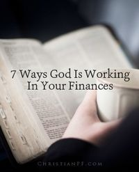 """7 ways God is working in your finances...Here are a few common questions: """"Doesn't the Bible say that money is the root of all evil? Are you implying that a holy God would stoop so low as to work through something as vile as our finances?"""" My answers to those two questions are """"no"""" and """"yes."""" The correct Bible quote is: For the love of money is a root of all kinds of evil. Some people, eager for money, have wandered from the faith and pierced themselves with many griefs. – 1 Timothy 6:10 NIV"""