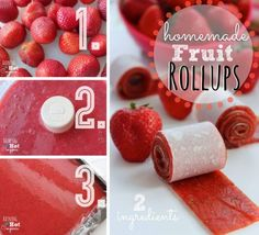 http://wonderfuldiy.com/wonderful-diy-2-ingredients-strawberry-roll-ups/  #diy #food #recipe