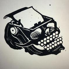 skull/typewriter hybrid in progress for @litreactor by dentonwatts