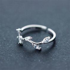 2016 Trendy Silver CZ Branch Ring for Girl [100715] - $35.00 : jewelsin.com