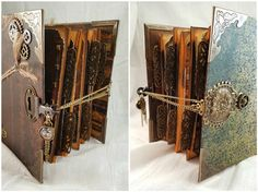 Tutorial of the Week: Mini Album Closures Part II - ButterBeeScraps Scrapbook Journal, Mini Scrapbook Albums, Mini Albums, Diy Mini Album, Mini Album Tutorial, Chicken Scratch Embroidery, Girl Scout Crafts, Crafts For Girls, Book Making