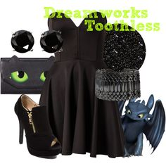 """""""Dreamworks Toothless"""" by amarie104 on Polyvore"""