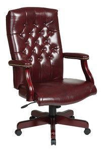 Office Star Traditional Executive Chair with Padded Arms TEX232-JT4