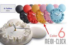 Kinderzimmer Wanduhr Mickey 6 Farben zur Auswahl kaufen bei Hood.de