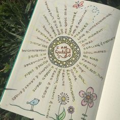 Cultivating gratitude in my Bullet Journal. What are you grateful for today?