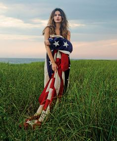 American Beauty  -  Lily Aldridge by Claiborne Swanson Frank for Vogue.  Dispatched from the West Coast.