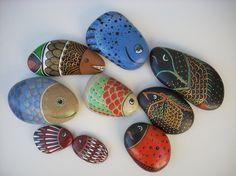 Blog de coupdepinceau :galets peints, poissons