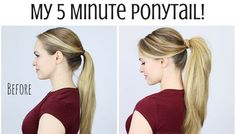 Truco de belleza: cola de caballo en 5 minutos para aumentar el volumen de tu cabello