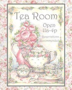 18 Super Ideas For Shabby Chic Ideas Kitchen Tea Parties Decoupage Vintage, Image Paris, Illustrations Vintage, Tea Sandwiches, Rose Tea, My Cup Of Tea, Vintage Cards, Afternoon Tea, Afternoon Delight