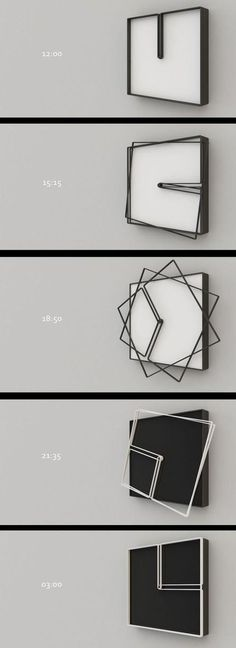 Fun clock design concept - easy to replicate with laser cutting - but is it usef. Fun clock design concept - easy to replicate with laser cutting - Design Hotel, House Design, Deco Design, Design Art, Design Concepts, Giant Wall Clock, Cool Clocks, Deco Originale, Industrial Design
