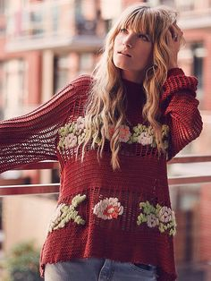 Free People FP New Romantics Everything is Rosey Pullover at Free People Clothing Boutique
