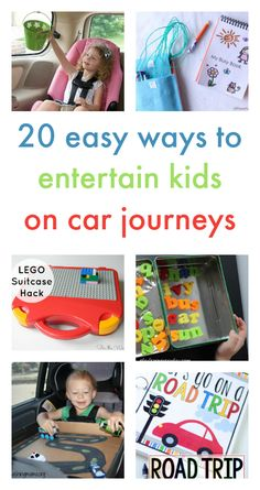 ideas for car journeys, travelling with kids, in car hacks for kids, road trips with kids