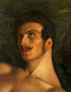 Head of a nude man lying by Edward Brzozowski, ca. National Library in Warsaw. Men Lie, Great Names, Stonehenge, Warsaw, Painting Prints, Erotic, Mona Lisa, Portraits, Nude