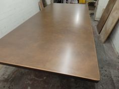 Aged Copper Table Top with Small Rounded Corners