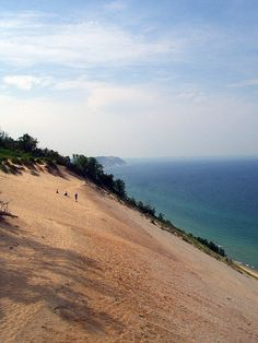 Sleeping Bear dunes....running down them as a kid, and getting sad in places I didn't yet know existed.
