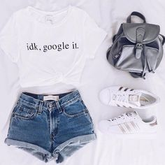 cute summer outfits that looks trendy. Teen Fashion Outfits, Girl Outfits, Girl Fashion, Tween Fashion, Fashion Clothes, Womens Fashion, Style Fashion, Unisex Outfits, Casual Teen Fashion
