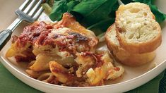 """""""Baked Ziti with Crunchy Italian Salad and Garlic Bread"""" in our Quick Vegetarian Main Course Recipes gallery Vegetarian Casserole, Casserole Recipes, Pasta Recipes, Vegetarian Recipes, Cooking Recipes, Veggie Recipes, Veggie Meals, Dinner Recipes, Quick Recipes"""