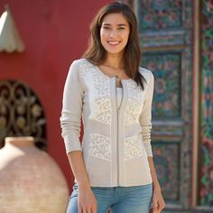 Portuguese Lace Cardigan | National Geographic Store