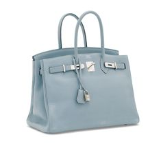 A CIEL CLÉMENCE LEATHER BIRKIN 35 WITH PALLADIUM HARDWARE  18f2b9874bde7