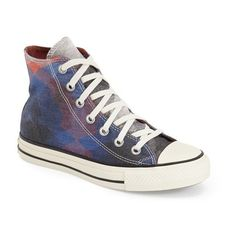 Converse Chuck Taylor All Star Missoni High Top Sneaker ($100) ❤ liked on Polyvore featuring shoes, sneakers, hi tops, converse trainers, high top trainers, converse shoes and glitter sneakers