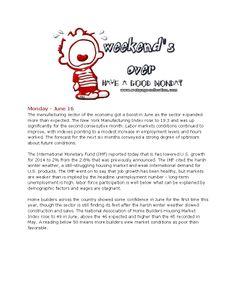6-16-14 Monday Market News www.equitysourcemortgage.com
