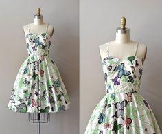 vintage 1950s dress / cotton 50s dress / Mariposa by DearGolden, $224.00