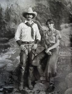 """Texas ranching couple, 1982. Photo from """"The North American Cowboy: A Portrait,"""" written and photographed by Jay Dusard, Consortium Press, 1983."""