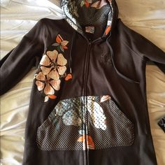 Roxy jacket Brown with flowers roxy jacket Roxy Tops Sweatshirts & Hoodies