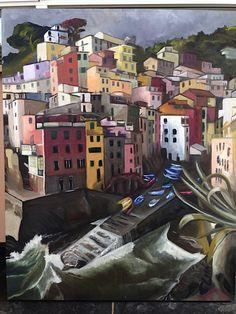 Cinque terre (oil on canvas), Charmaine Lim 2014