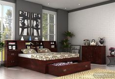 Shop Double Beds from WoodenSpace at Best prices in UK. Get Great Deals on Modern Double Beds Furniture ✓Custom Designs ✓Widest Range ✓Limited Time Offer College Bedding Sets, Bedding Sets Online, Beds Online, Bedroom Sets, Bedroom Decor, Wooden Bedroom, Bedroom Furniture Online, Bed Furniture, Cheap Furniture
