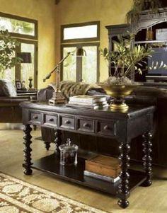 Colonial style decor - myLusciousLife.com - Tommy Bahama Kingstown console.jpg